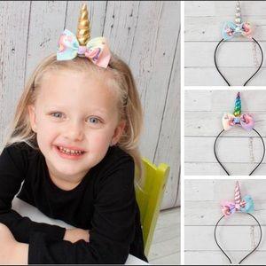 Other - NWT! Boutique Unicorn Bow Headband